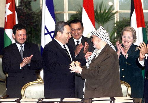 یاسر عرفات، حسنی مبارک، اهود برک